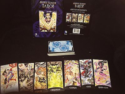 Oop Dc Comics Justice League 78 Card Tarot Deck With Embroidered Pouch