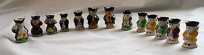 Collection of 13 Miniature Toby Jugs