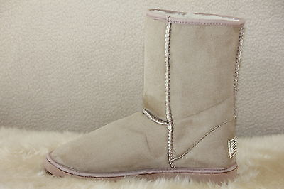 Ugg Boots Short, Synthetic Wool, Colour BEIGE, Size 5 Lady's