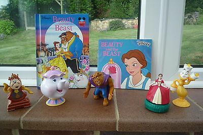 Disney Beauty and The Beast Plastic figures and books