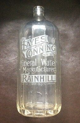Hayes and Conning Ltd, M. W. Manufacturers, Rainhill, Soda Syphon