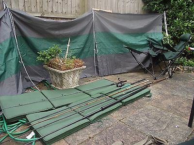 Fishing set 4 fishing rods, rod pole.Reel, Bedseats,Windbreak. Fishing chair