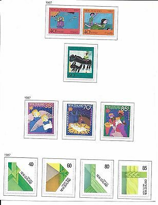 New Zealand Unmounted Mint  Stamps.1987. (10)