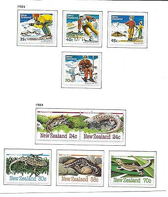 New Zealand Unmounted Mint  Stamps.1984. (9)