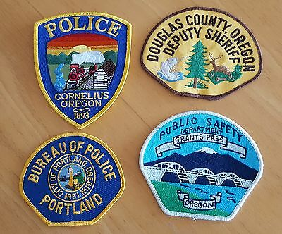 USA - 4 x Different Oregon Police Patches #4