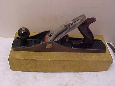 BEAUTIFUL 1950s STANLEY USA NO. 5C PLANE IOB ROSEWOOD TOTE AND KNOB ESTATE FIND
