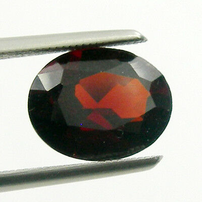 Oval Cut Calibrated Size Red Colour Untreated Natural Garnet Loose Gemstone