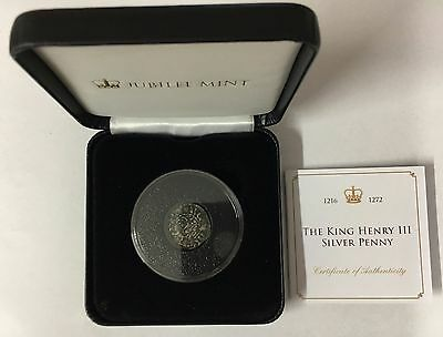The King Henry III Silver Penny incl. Cert & Box  (B4)