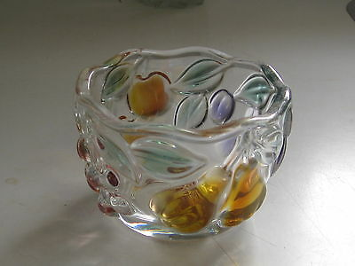 Walther-Glas ** Small Bowl ** Fruit Motif