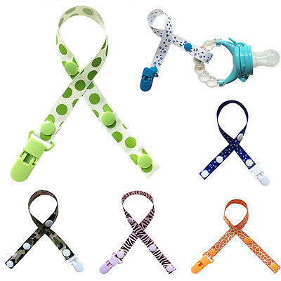 Chic Baby Pacifier Strap Colorful Print Newborn Dummy Soother Clip Teether Strap