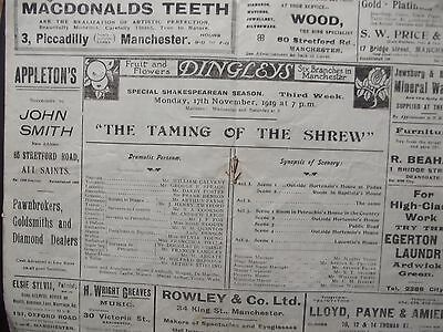 Old Theatre Programmes Manchester (4 Different)