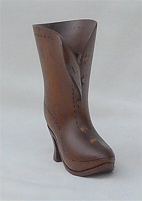 Small Hand Carved Ironwood Lady's Victorian Shoe Boot