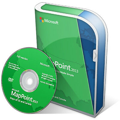 Microsoft MapPoint 2013 North American Maps x32/x64 bit map point DVD