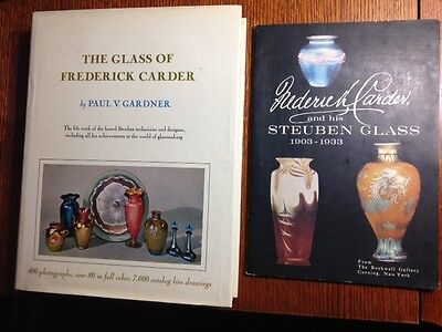 Frederick Carder Glass July 1979 & F. Carder and Steuben Glass 1903-33 two books