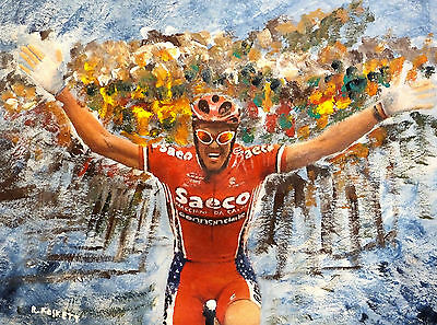 MARIO CIPOLLINI  painting  on streched cotton canvas ready to hang 20x16  Inch