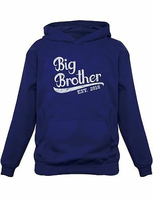 Baby Announcement Sibling Gift Going Birth Big Brother 2018 Kids Hoodie Boys M