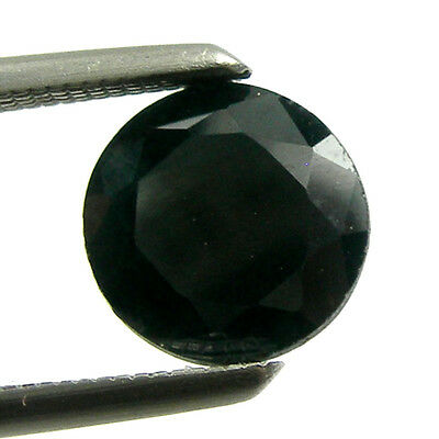 1.22 carat 6.30mm Round Black Color Natural Australian Sapphire Loose Gemstone