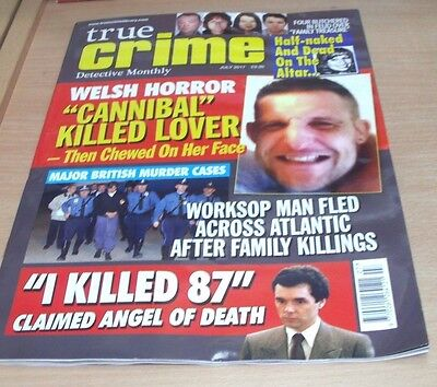 True Crime Detective Monthly magazine JUL 2017 Half-Naked & Dead on the Altar