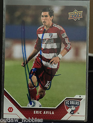 FC Dallas Eric Avila Autographed Signed 2011 Upper Deck UD MLS Card