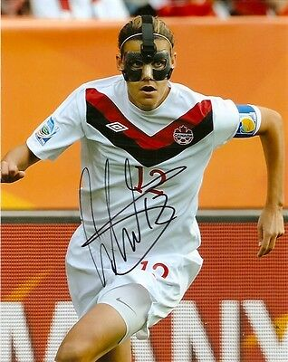 London 2012 Christine Sinclair Team Canada Autographed Signed 8x10 Photo COA TWO