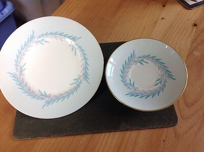 Mintons China - Malta Pattern Side Plate And Saucer