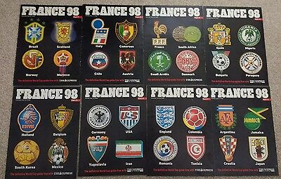 France 98 World Cup Express 8 part tournament guide collection