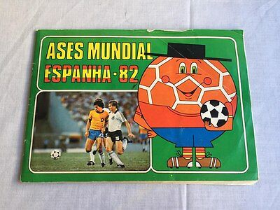 Rare Vintage Complete Sticker Album Ases Do Mundial Spain World Cup 1982