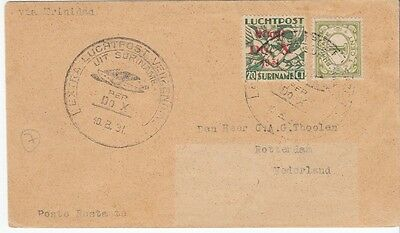 Dox cover 1931 Suriname to Netherlands