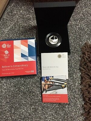 2016 Royal Mint Rio Olympic Team GB Silver Proof 50p coin