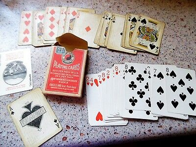 Antique Pacific Northwest Railroad Playing Cards and box. W-259 Yellowstone