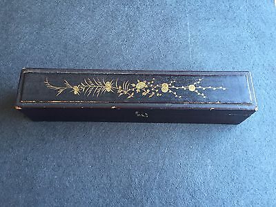 Antique Chinese Wood Handpainted Box For Hand Fans Xix