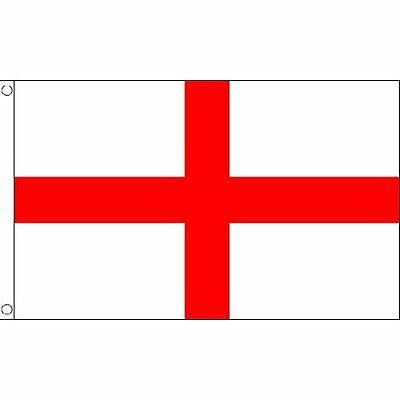 ENGLAND ST GEORGES CROSS FLAG 5FT x 3FT New Free UK Postage