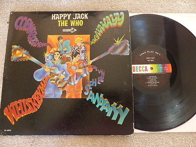 The Who Happy Jack (A Quick One) 1967 Us Mono Original Decca Dl4892 Vg Rare