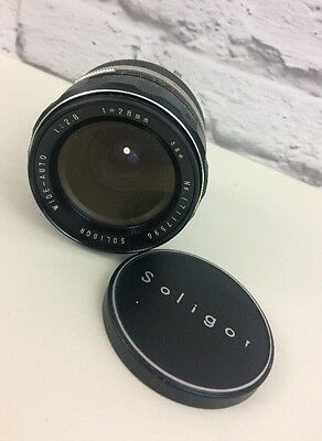 Vintage Soligor Wide Auto 1: 2.8mm f= 28mm Camera Lens.