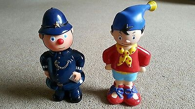 Enid Blyton characters empty plastic bubblebath containers Noddy Policeman Plod