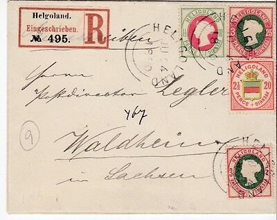 Heligoland to Germany registered cover 1890