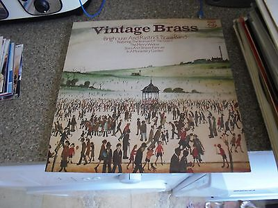 LP/ BRIGHOUSE AND RASTRICK BRASS BAND /VINTAGE BRASS (1980s UK EMI MFP