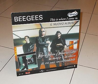 Cartonato Promo BEE GEES This is where I came in POSTER Affiche advertising