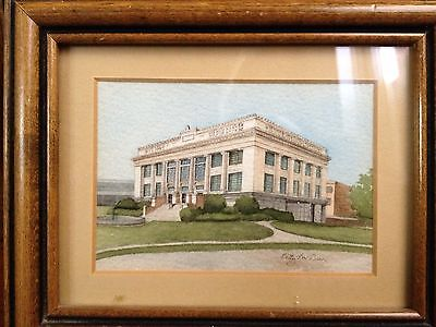 Original Watercolor Painting Meridian MS City Hall Mississippi