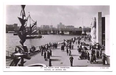 FESTIVAL OF BRITAIN 1951 At The South Bank Exhibition RPPC