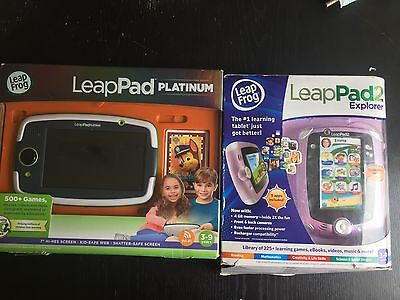 LeapPad Platinum Green With WIFI And LeapPad2 Explorer Purple: RRP 100/ £50 Each