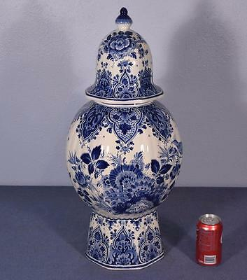 "25"" XL Antique Delft Tin Glazed Faience Ginger Jar by RAM"