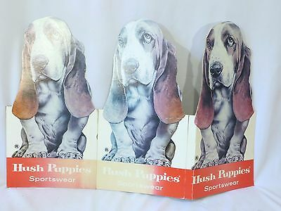 vintage Hush Puppies Shoes Store Display Cardboard Advertising