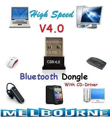 Mini USB 2.0 Bluetooth V4.0 Dongle Wireless Adapter For PC Laptop 3Mbps Speed #C