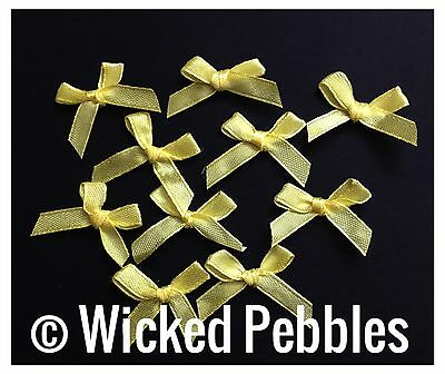 20 x MINI YELLOW BOWS - SCRAPBOOKING/CRAFTS.......