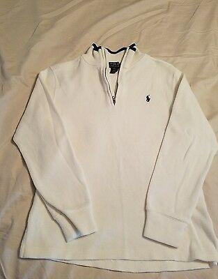 RL Polo quarter zip sweater, boys size M (10-12) GUC