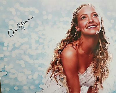 Amanda Seyfried Signed Autograph Photo 8x10 COA Mama Mia Jennifers Body Les Mis