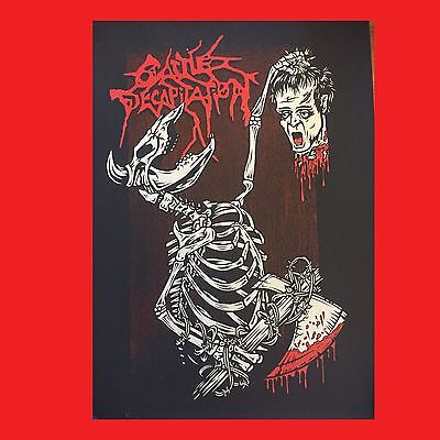 Cattle Decapitation Silk Screened Print Poster Suffocation Deicide Slayer Gore