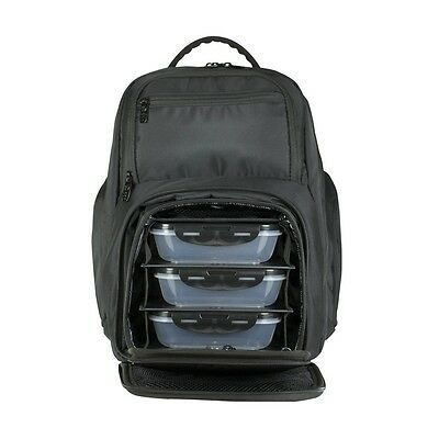 6 Pack Fitness Expedition Backpack Meal Mangement System 300 Stealth Black