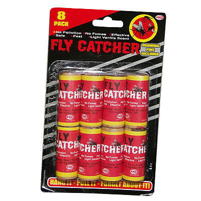 Fly Catchers Bee Wasp Insect Bug Mosquito Poison Free Hanging Paper Strips Traps